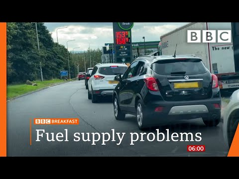 Fuel supply: UK suspends competition law to get petrol to forecourts @BBC News live 🔴 BBC