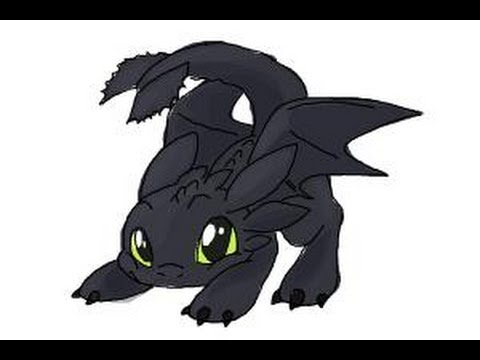 How to draw Chibi Toothless  YouTube