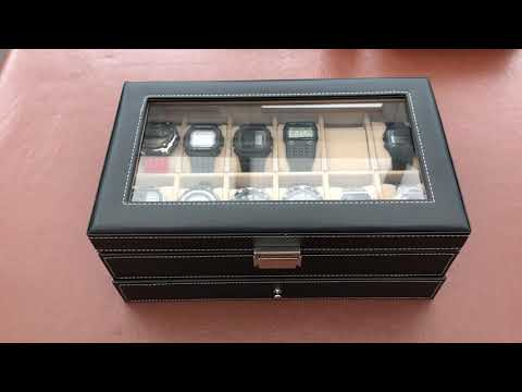 Songmics 12 Watch Storage Display Case