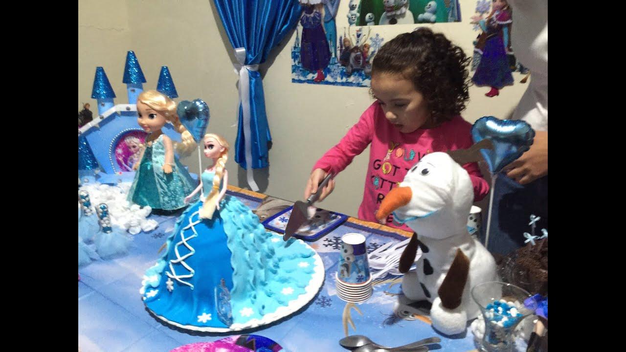 Festa infantil tema Frozen bem rapidinho e o melhor bem