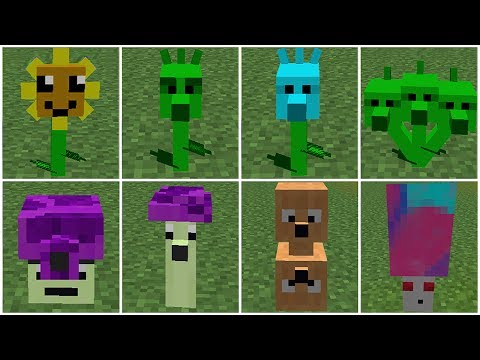 Thumbnail: All Plants Power-Up! in Plants vs Zombies 2 Minecraft Mod