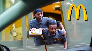 We Pretended To Work At McDonalds Drive Thru (Fake Employee Prank)