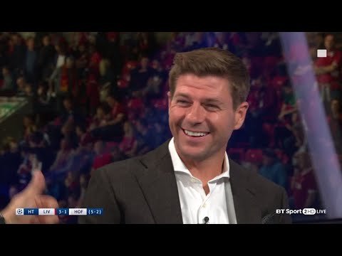 Steven Gerrard sings the Sadio Mané song live in the studio