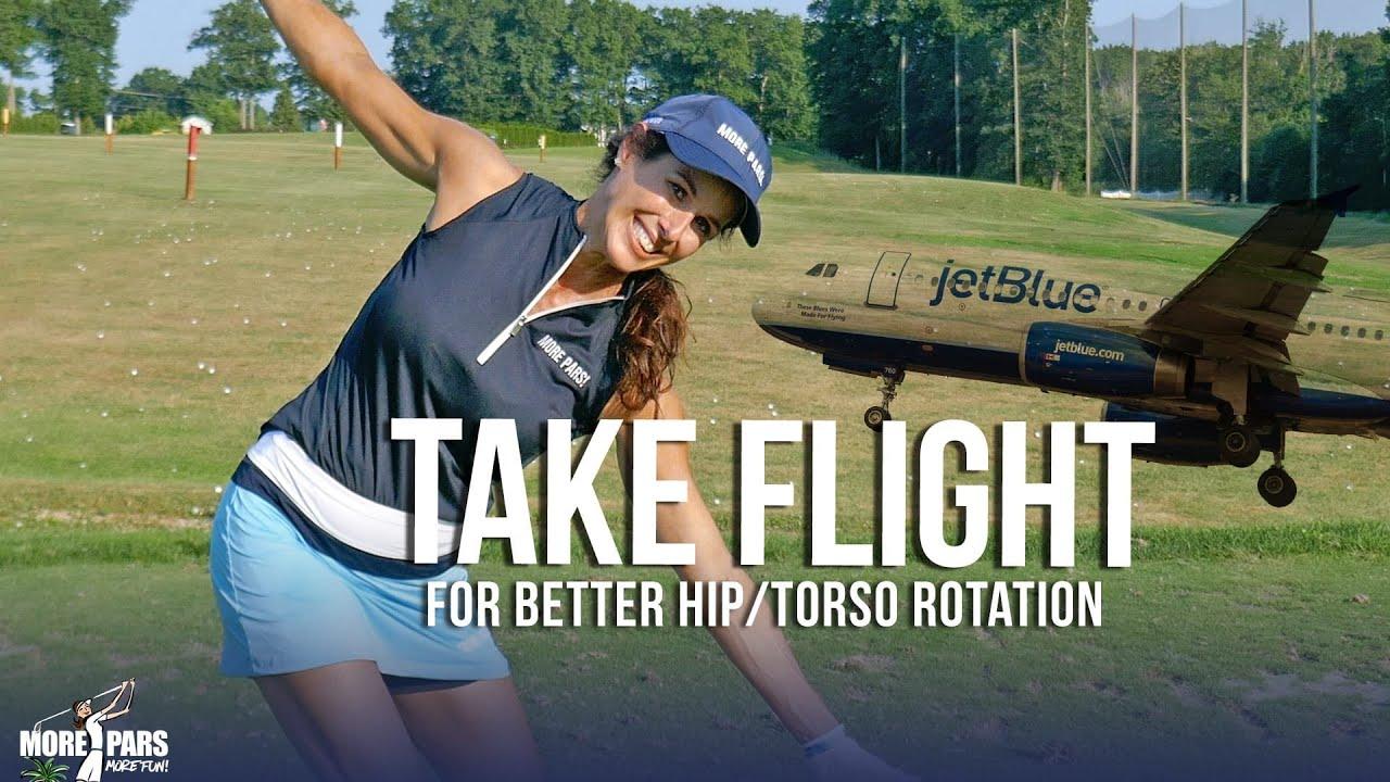 Golf Tip: Take Flight for Better Hip & Torso Rotation