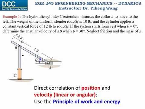 Dynamics Lecture 31 - Work and energy for rigid body planar motion