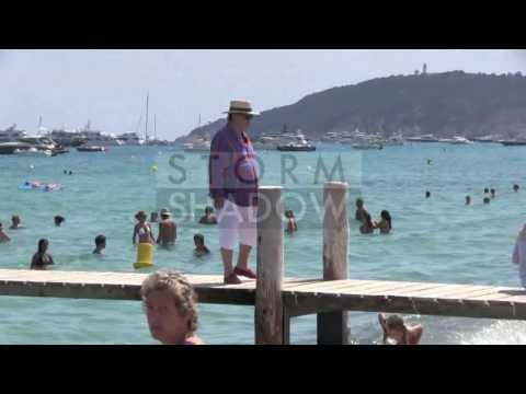 EXCLUSIVE: Paul-Loup Sulitzer arriving at Club 55 in Saint Tropez