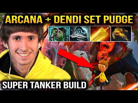 DENDI PUDGE Arcana + Dendi Set SUPER TANKER MODE Dota 2