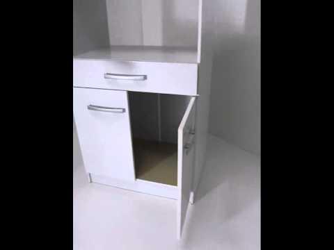 Deltacolchones mueble para microondas youtube for Muebles para horno de microondas