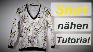 Shirt selber nähen - Nähanleitung - Schritt für Schritt Tutorial -  Annas Nähschule