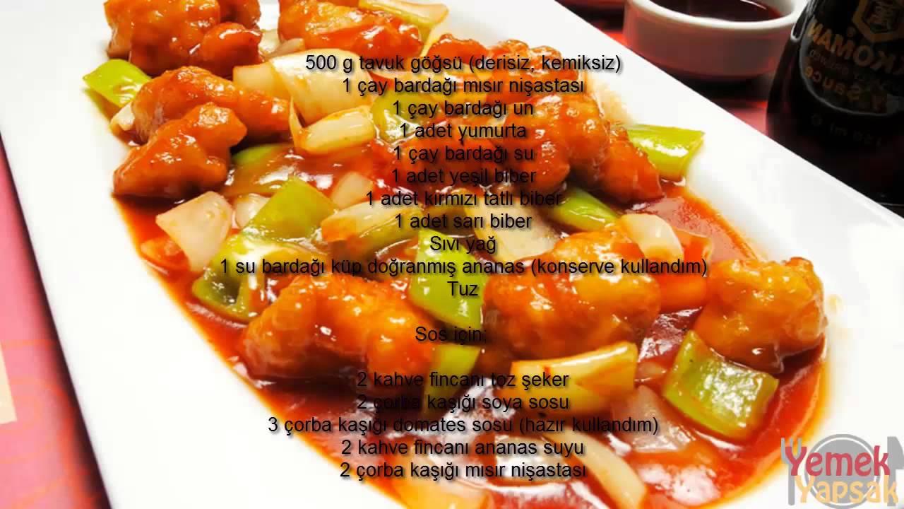 Tatlı ekşi soslu tavuk nasıl yapılır