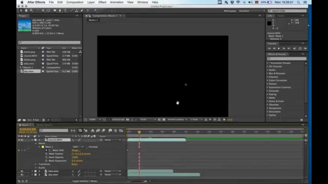 After Effects Maske