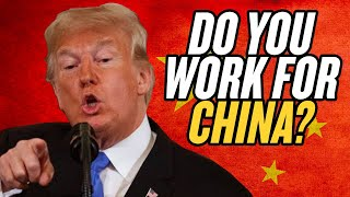 """Do You Work for China?:"" Trump Asks Reporter"