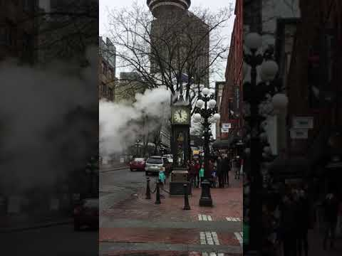 Steam clock in Gas Town neighborhood in Vancouver