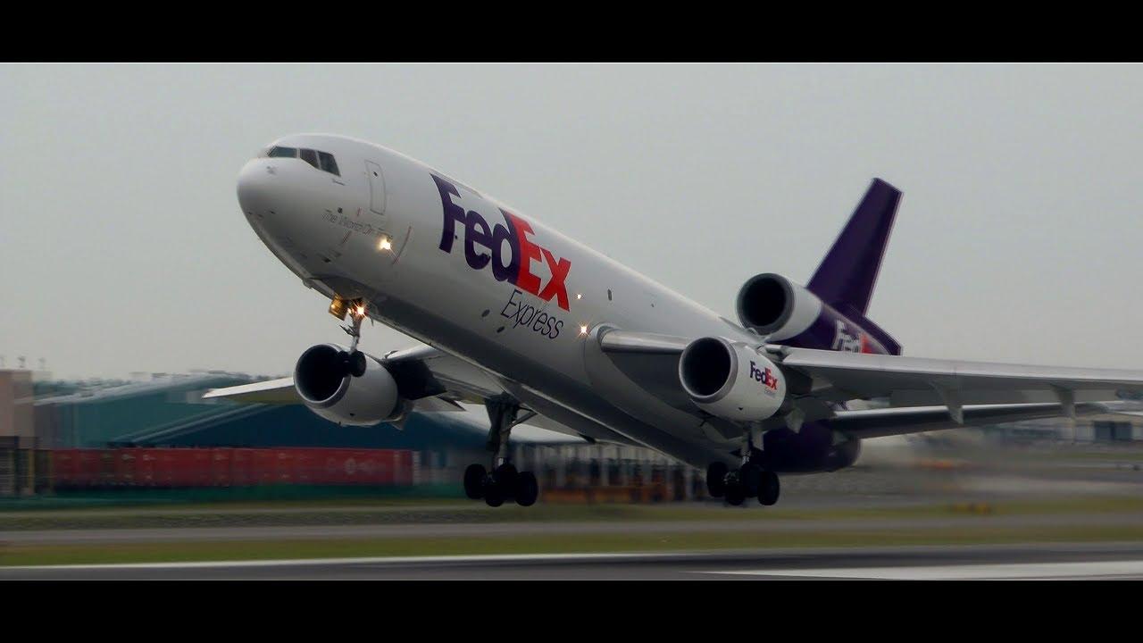 FedEx MD-10 Full Takeoff