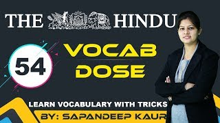 Vocab Dose - The Hindu : Learn Vocabulary with Tricks @ 5 PM 22March2018 thumbnail
