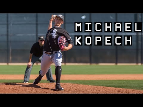Michael Kopech pitching for the Chicago White Sox in 2018 Spring Training