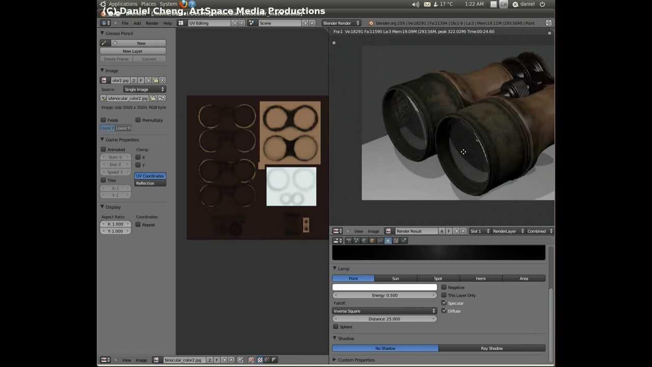 Blender 基礎教程 - 古董望遠鏡材質製作 8 (鏡片材質與試算) - YouTube