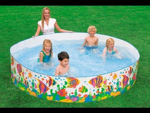 Intex 8 ft x 18 inch sun fish snapset pool review youtube for Swimming pool 4 eckig