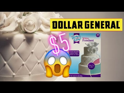 Dollar General $5 Fondant And New Baking Section (7-20-19)