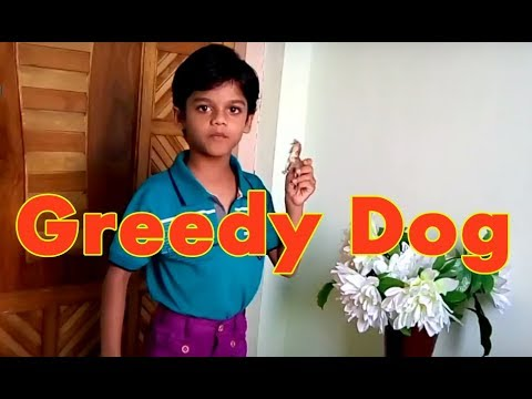 The Greedy Dog Story in English | Story Telling Competition for Class 1 | The Dog and the Bone