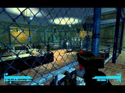 Fallout: New Vegas - Taking down the Van Graffs inside Silver Rush