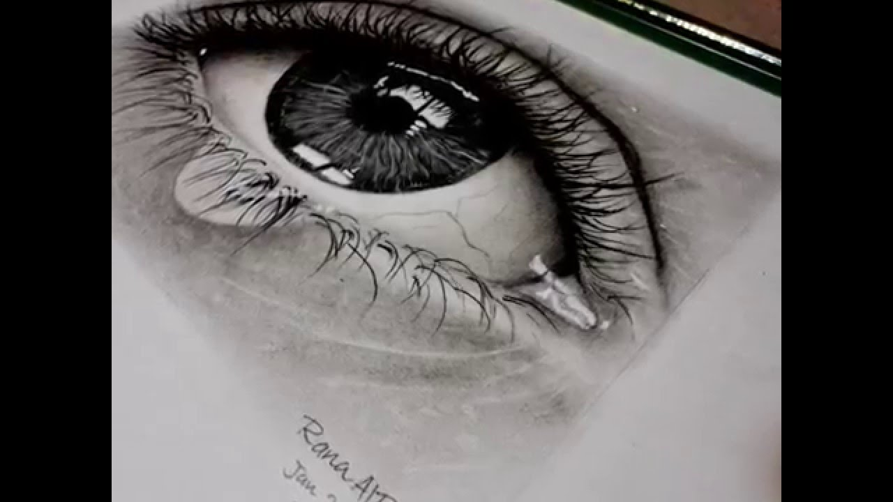 How to draw realistic eye using pencil and charcoal pencil drawing speed drawing