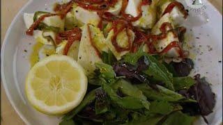 Салат с чили и моцареллой