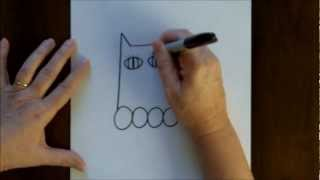 Free Drawing Lesson How To Draw A Cartoon Cat Kitty Kitten Easy Step By Step Drawing Tutorial
