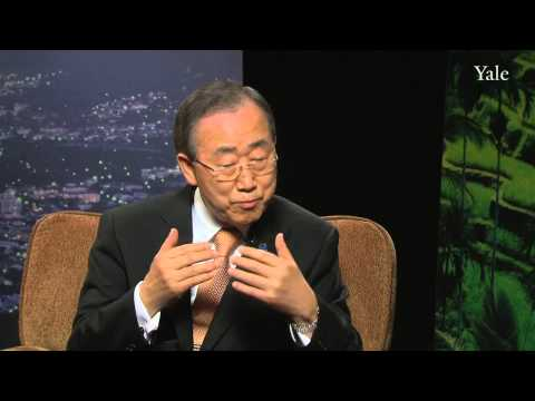 United Nations Secretary-General Ban Ki-moon: Syrian civil war, climate change, and food security