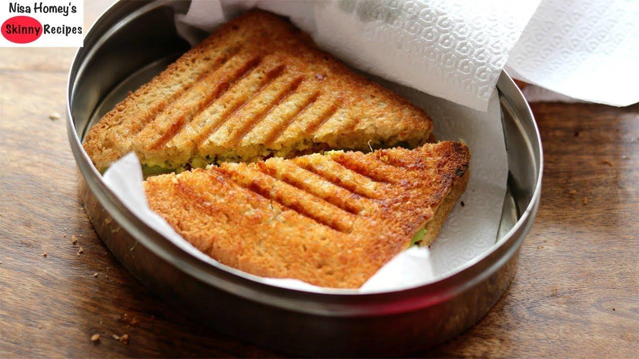 High Protein Veg Sandwich Recipe – Healthy Sandwich For Weight Loss-Paneer Sandwich   Skinny Recipes