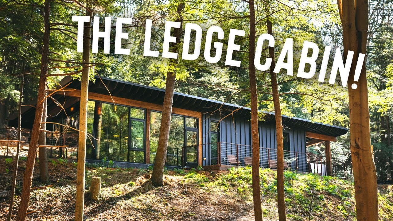 Glass Cabin w/ Caves & Waterfalls! | The Ledge Airbnb Cabin Tour!