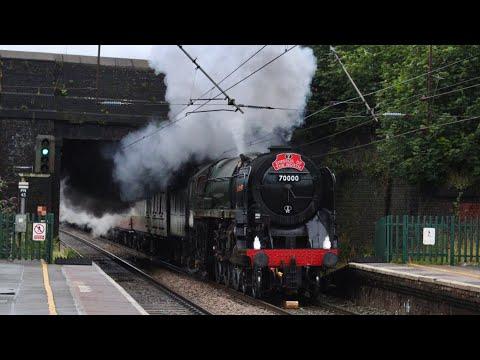WATCH: Steam locomotive Britannia rules the North West