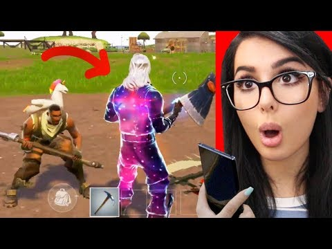 FIRST TIME PLAYING FORTNITE WITH THE GALAXY SKIN