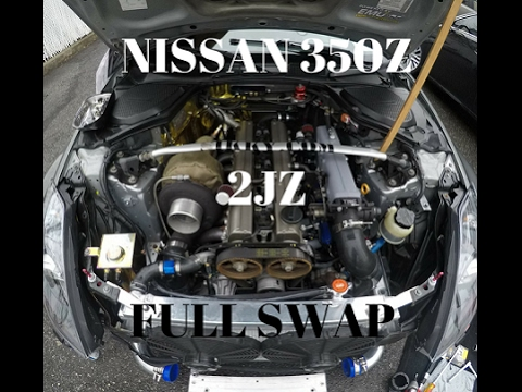 NISSAN 350Z 2JZ FULL SWAP . !!!