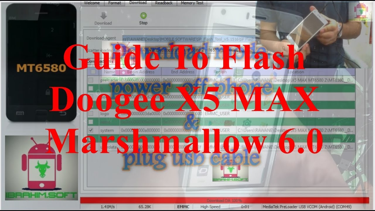 flash doogee x5 max mt6580