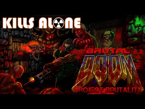 Project Brutality 3.0 Test (2017) Brutal DOOM: Hell on Earth - Marine HQ (MAP05)