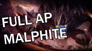 Full AP Malphite Mid - Full Gameplay Commentary