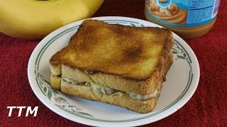 How To Make An Elvis Sandwich In The Toaster Oven~peanut Butter Banana And Maple Syrup Sandwich