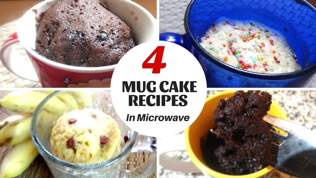 Easy cake recipe in Tamil |2 Minute Mug Cakes | 4 Easy ...