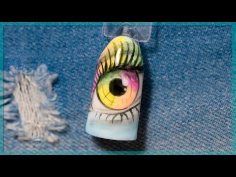 Глаза на ногтях