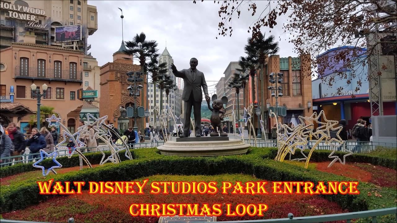 Walt Disney Studios Park Entrance Christmas Loop Disneyland