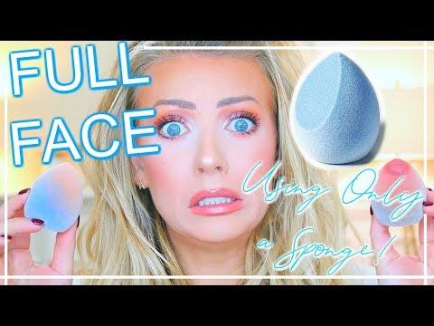 FULL FACE Challenge Using Only JUNO Makeup Sponge