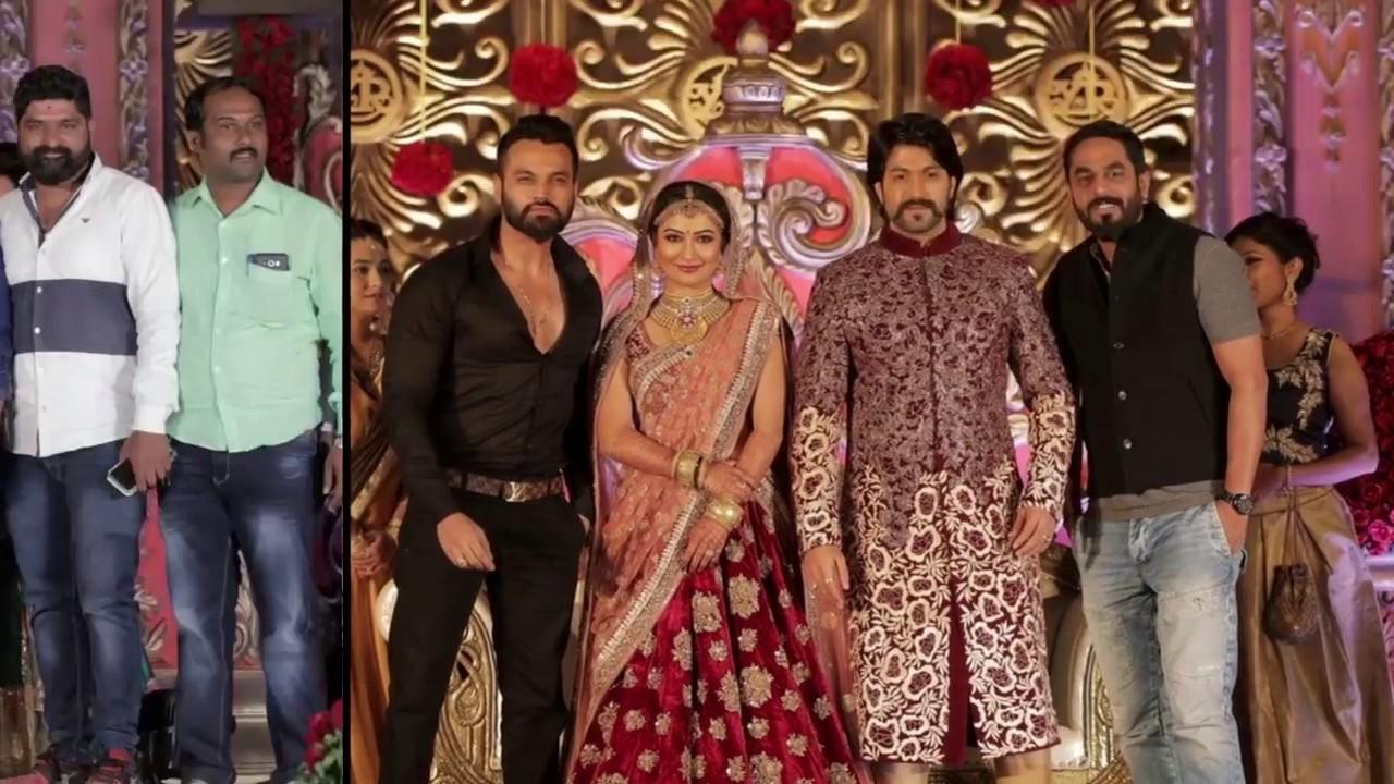 Rocking star yash and radhika pandit wedding reception