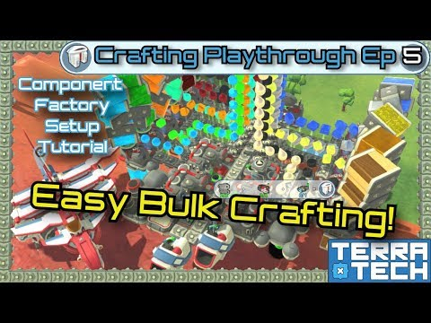 TerraTech - Crafting Ep5 -  Compressed Fabrication System & Missile Planes! [0.8.2 to 1.0]