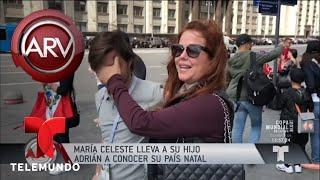 María Celeste y su hijo Adrián ya están en Rusia | Al Rojo Vivo | Telemundo