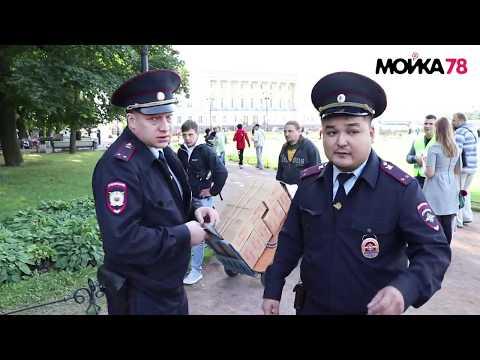 Борьба с незаконной торговлей в центре Петербурга