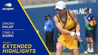 Simona Halep vs Camila Giorgi Extended Highlights | 2021 US Open Round 1