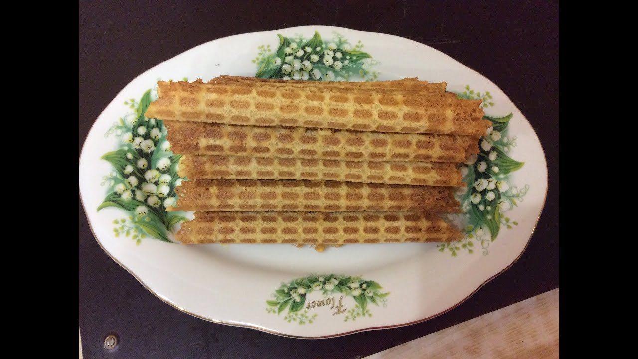 Вафельные трубочки / Самый вкусный рецепт вафельных трубочек