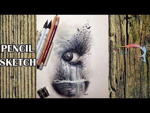 Shrishti Arts The Beautifull Eye Of Nature Abstract Art