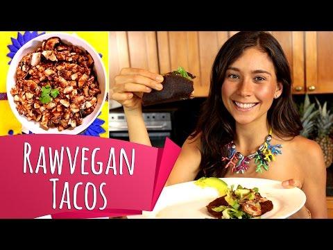 RAW VEGAN TACOS! Mushroom Taco Meat